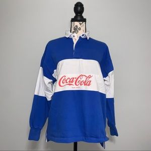 Vintage 80's Coco-Cola Long Sleeve Polo Shirt